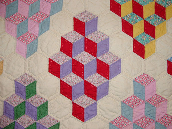 Vintage Tumbling Blocks Quilt Inspiration Q Is For Quilter
