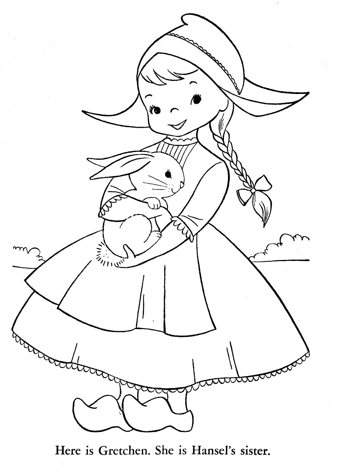 Dutch Clogs Coloring Pages Coloring
