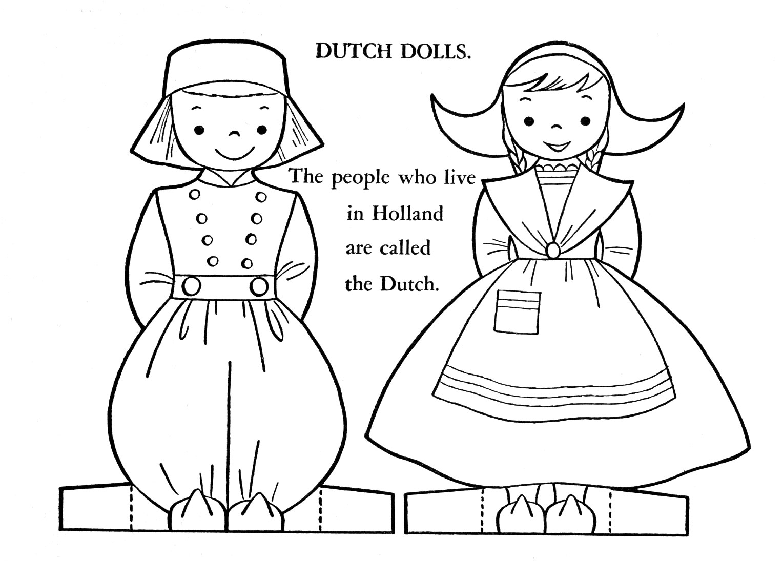 Dutch Boy And Girl Coloring Pages