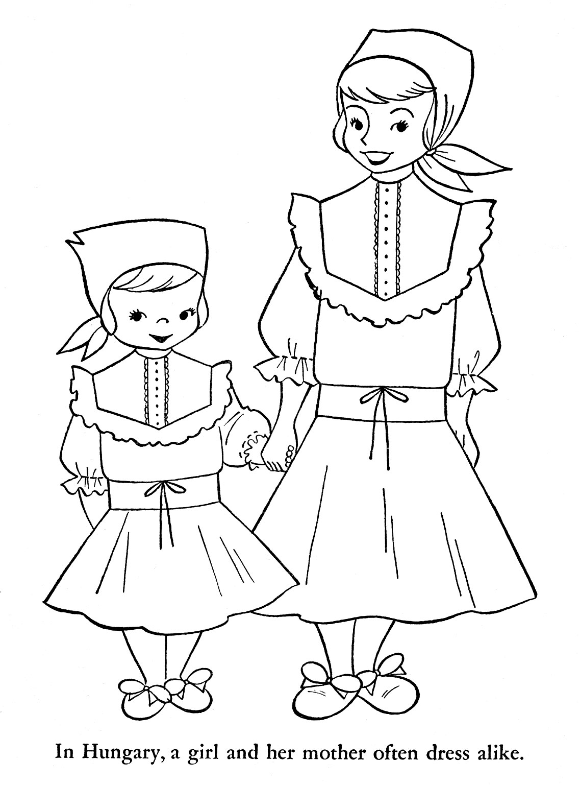 Sweden Child Coloring Pages