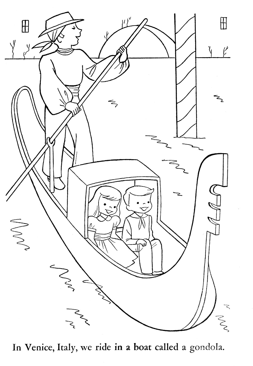 italian kids coloring pages - photo#3