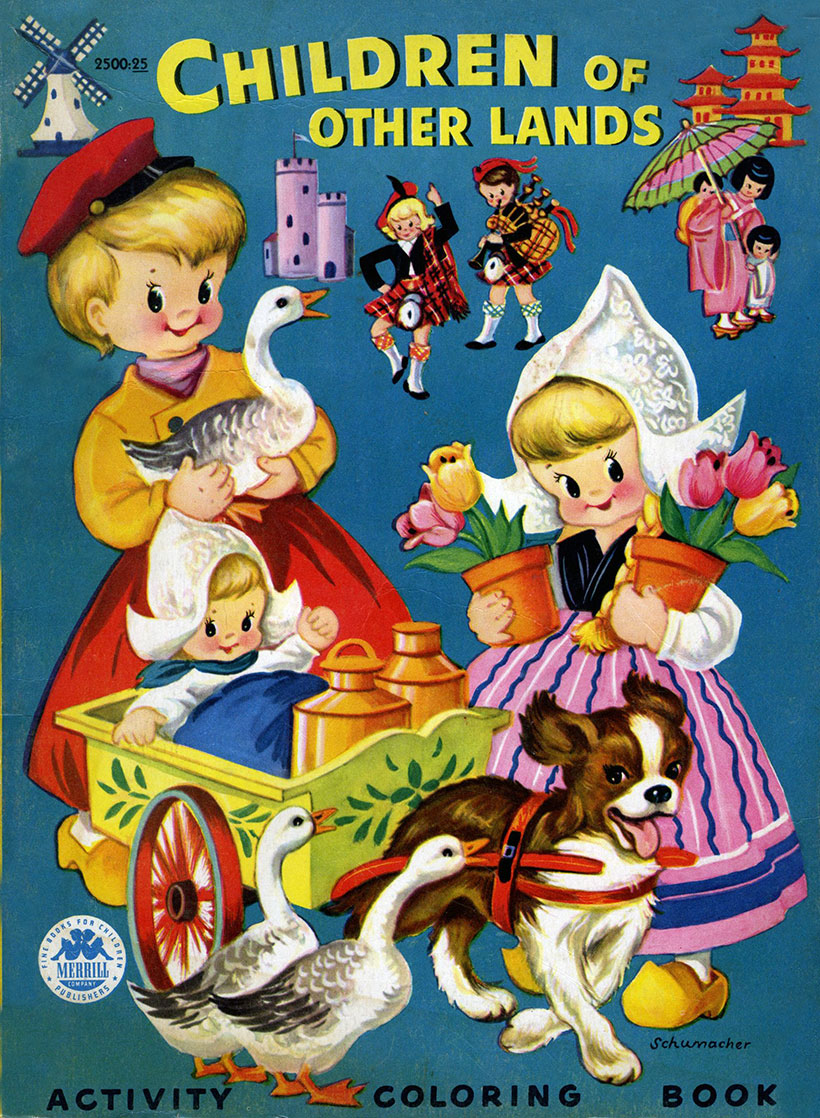 Children of Other Lands Coloring Book, 1954 – Q is for Quilter