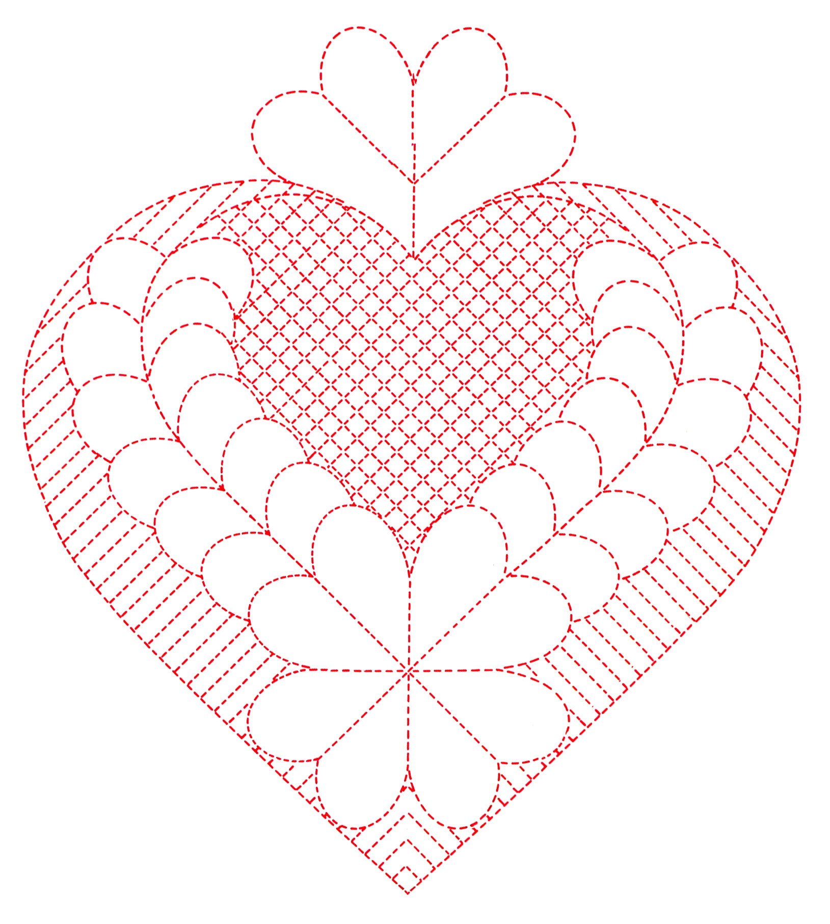 Hand Quilting Heart Patterns : 1000+ images about quilting motifs on Pinterest Hand quilting patterns, Hand quilting designs ...