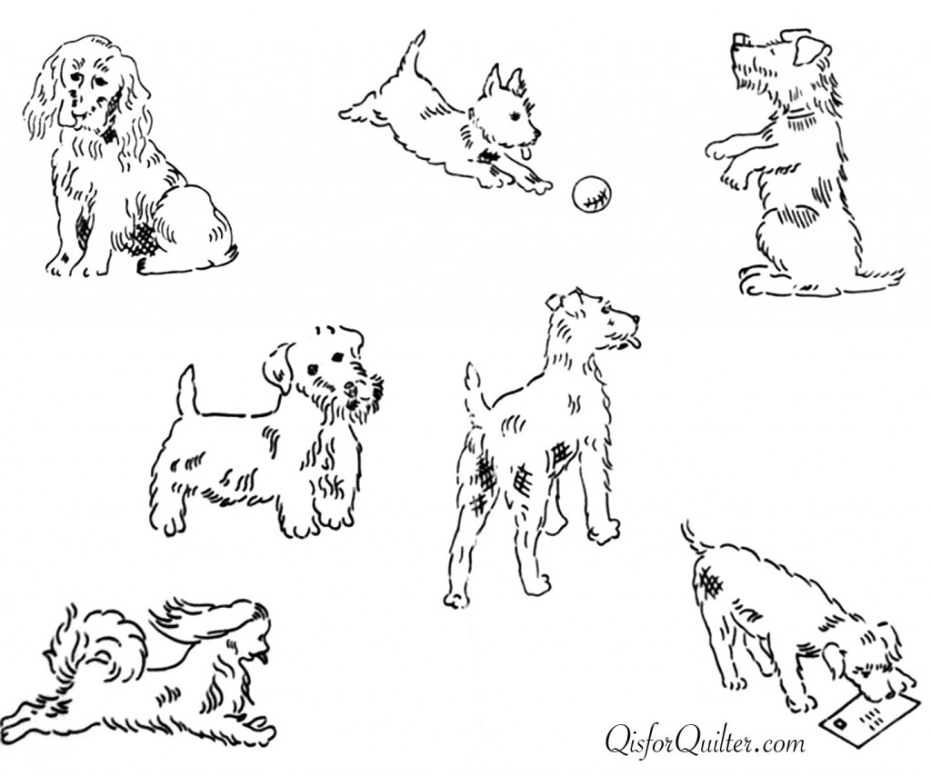 Needlewoman-transfer-dogs