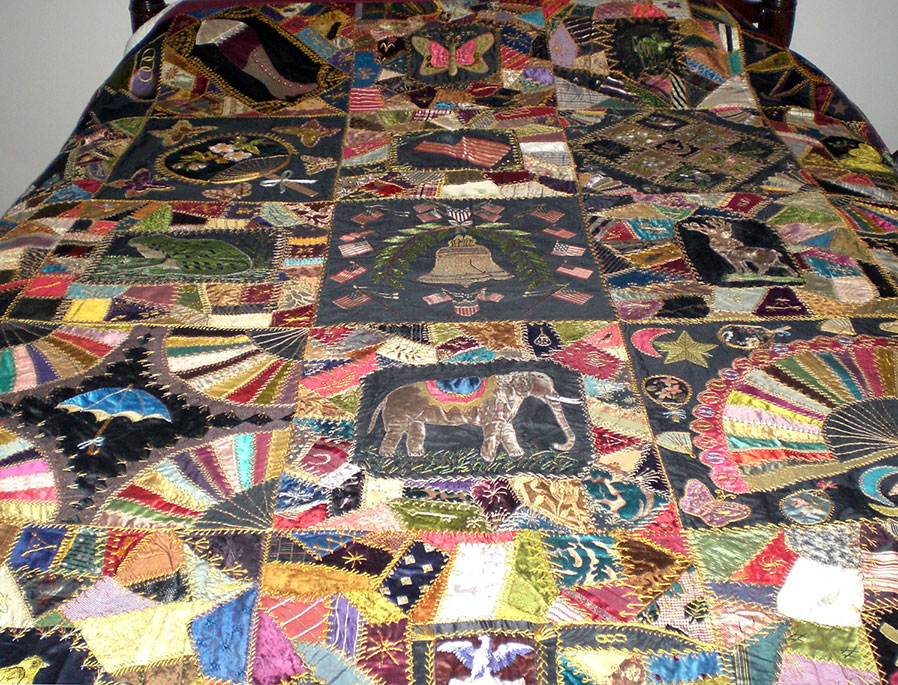 Antique Victorian Crazy Quilt – Q is for Quilter : crazy quilt pictures - Adamdwight.com