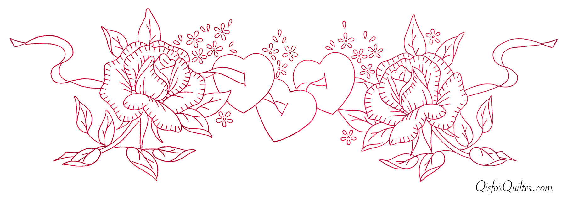 Vintage valentine embroidery transfers q is for quilter