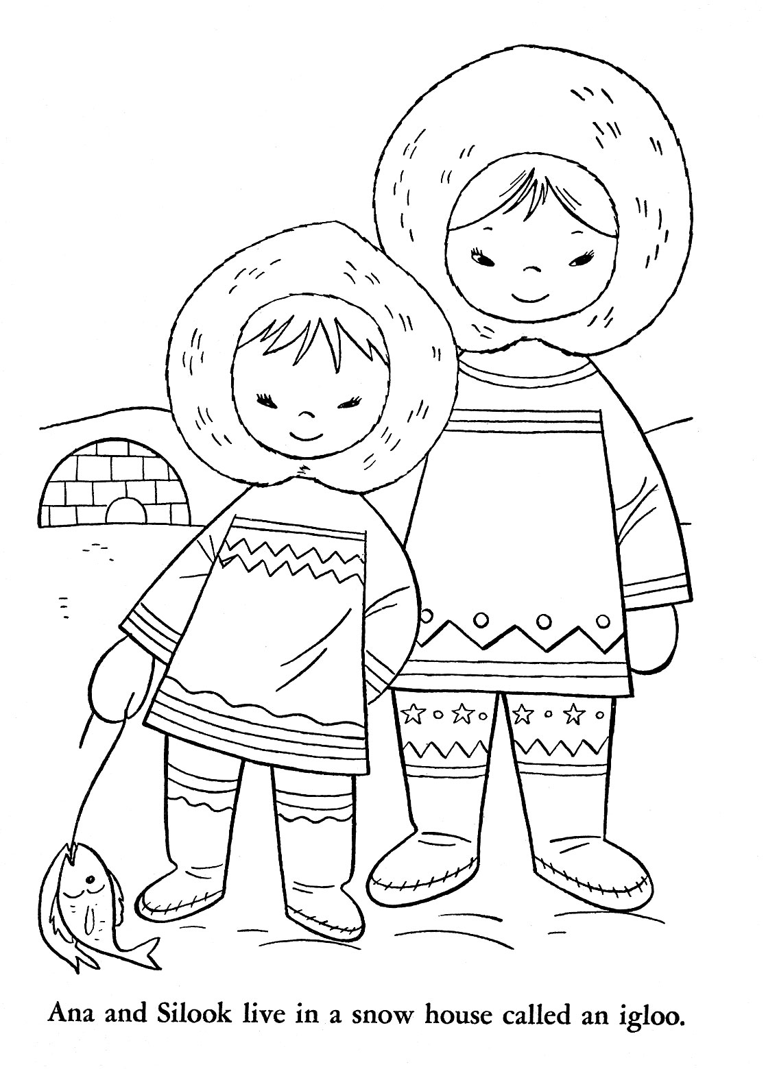 alaska coloring book pages - photo#38