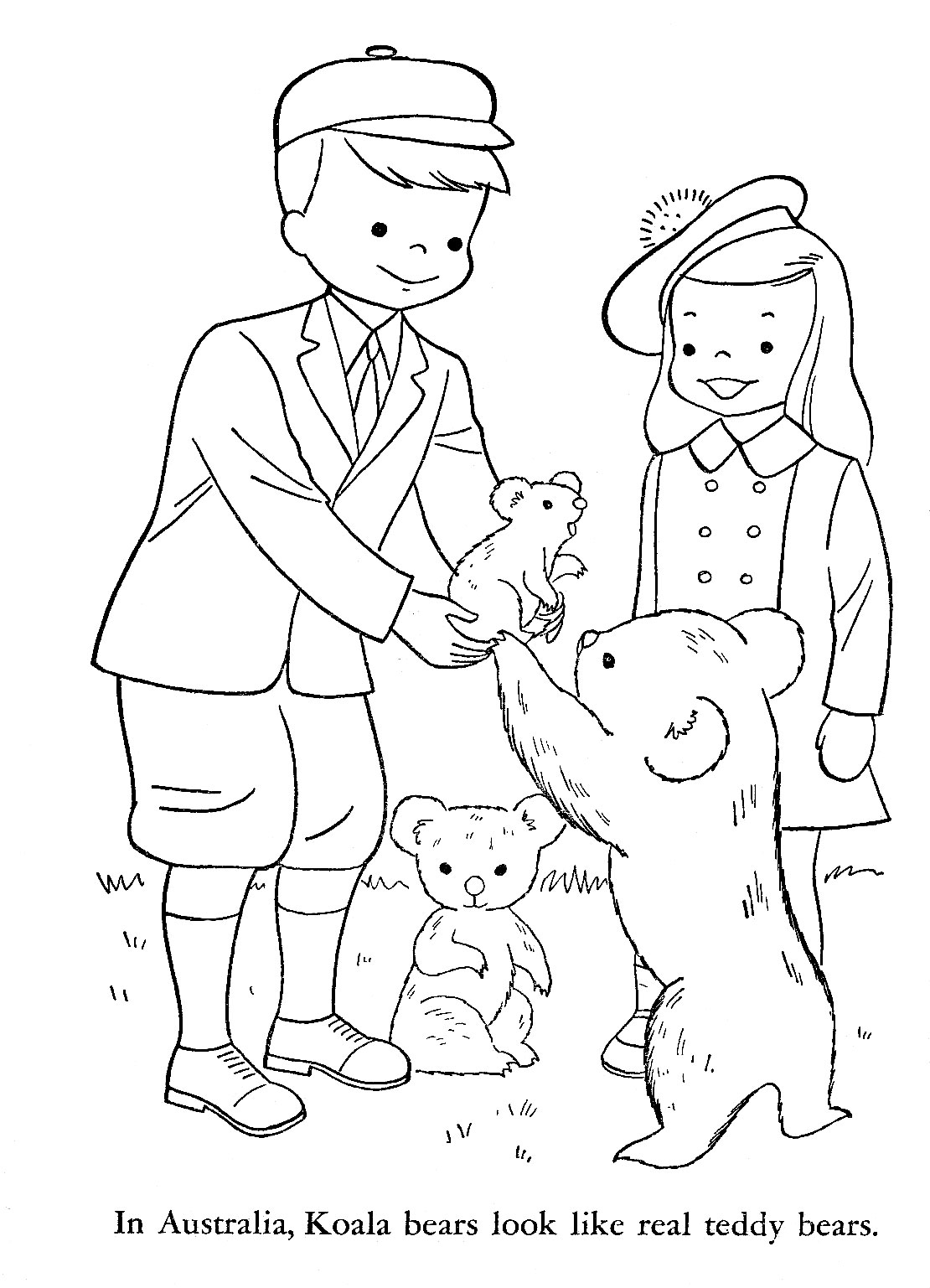 coloring book pages of children - photo#16