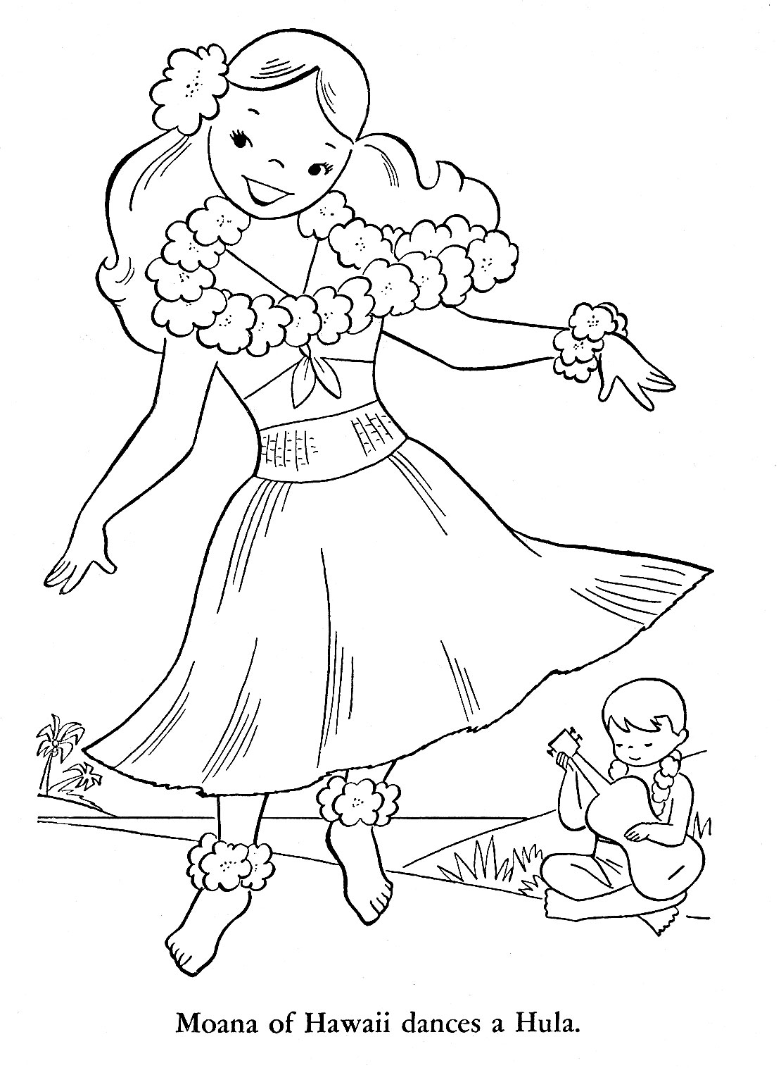 hawaiian coloring pages for children - photo#21