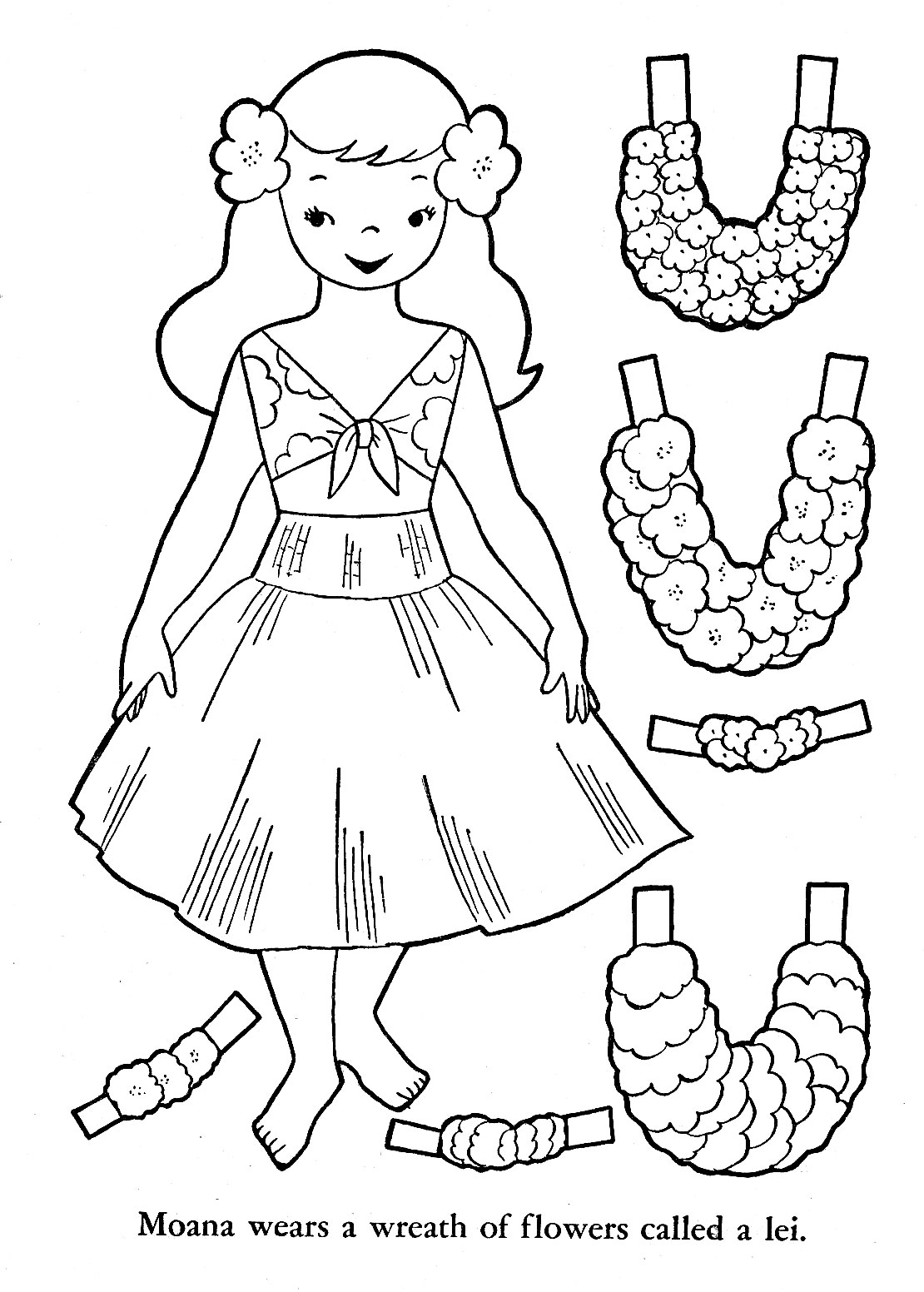 hawaiian coloring pages for children - photo#13