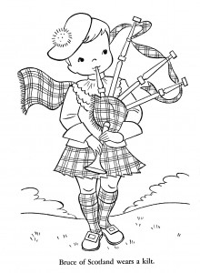 scottish coloring pages | Children of Other Lands, 1954 – Belgium, Spain, Portugal ...
