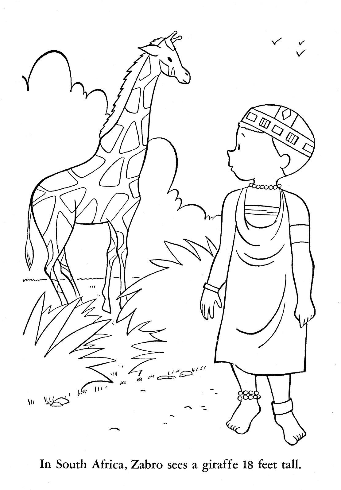 africa coloring pages to print - photo#5