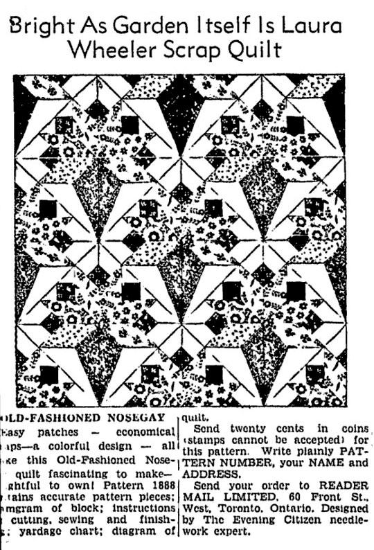 Laura Wheeler Quilt Pattern Flower Of Spring Q Is For