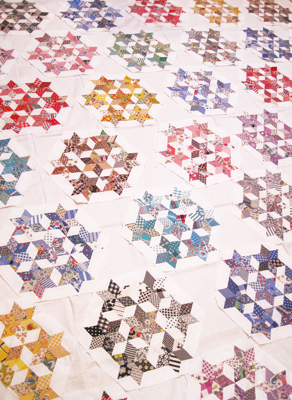 Seven Sisters Quilt Finished Blocks Q Is For Quilter