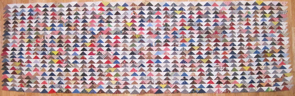 Triangle-Quilt-top-22-rows