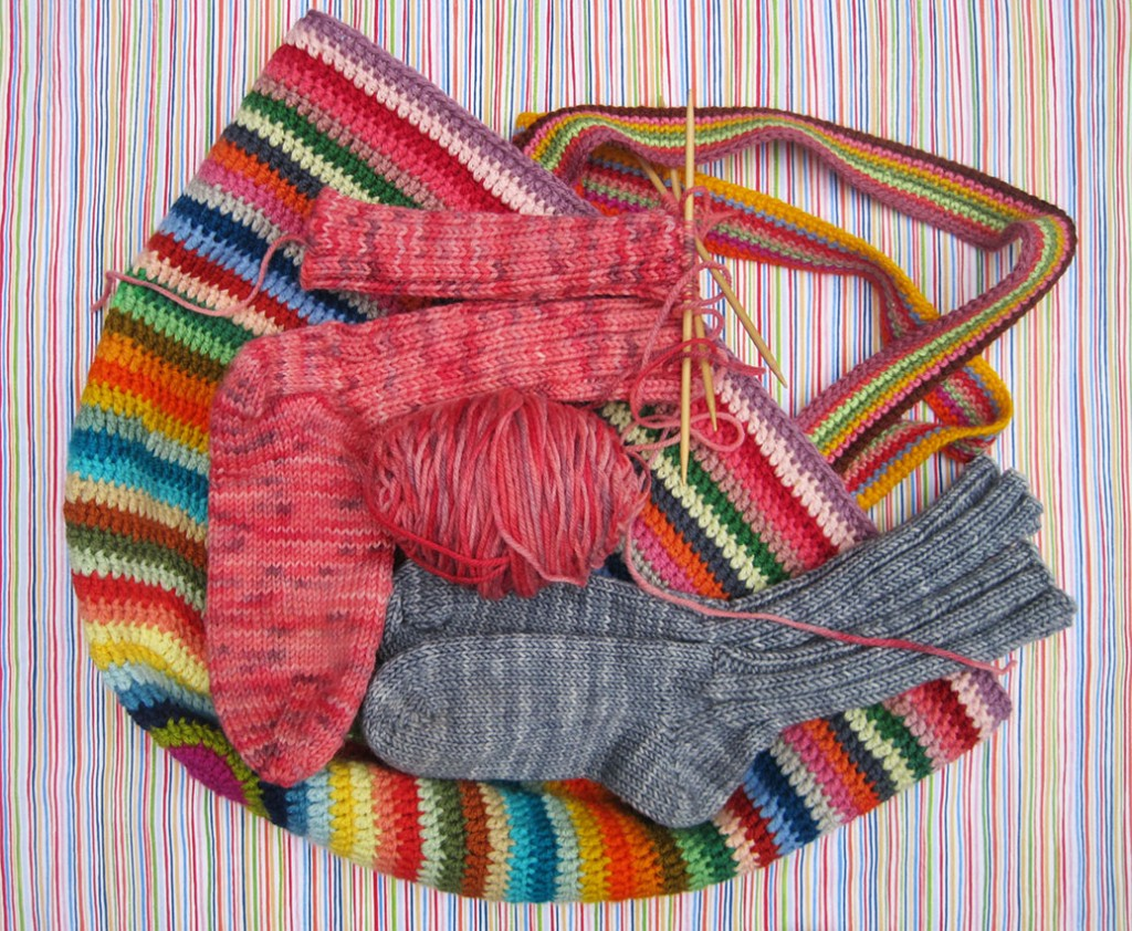 Crocheted-Bag-with-socks
