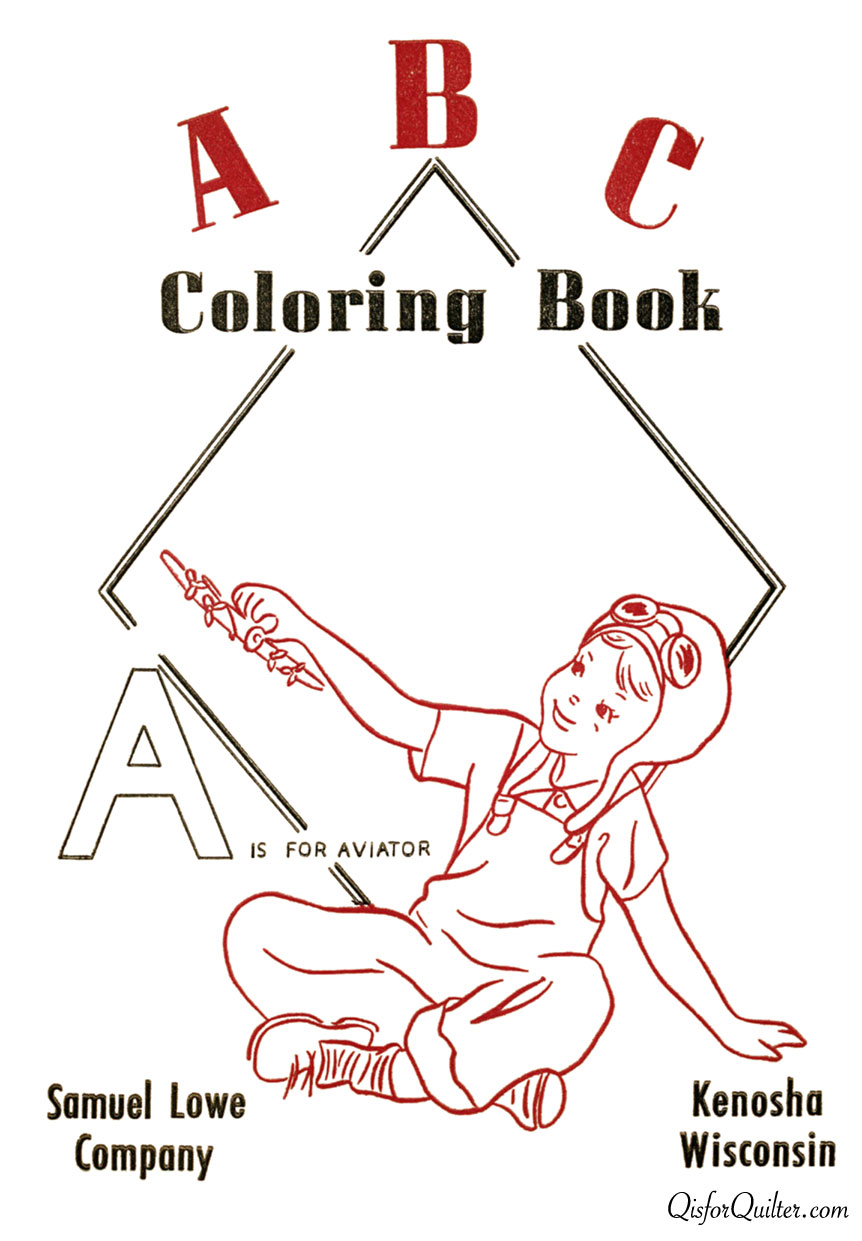 ABC Coloring Book for Labor Day – Q is for Quilter
