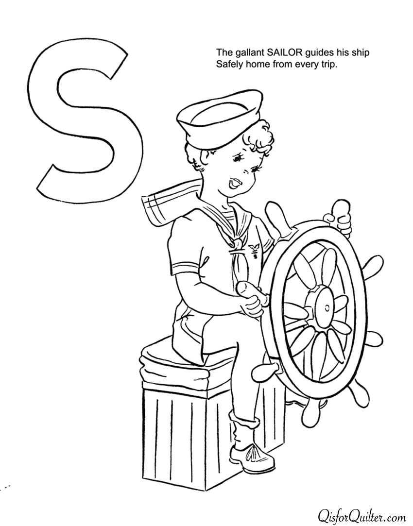 ABC Coloring Book for Labor Day