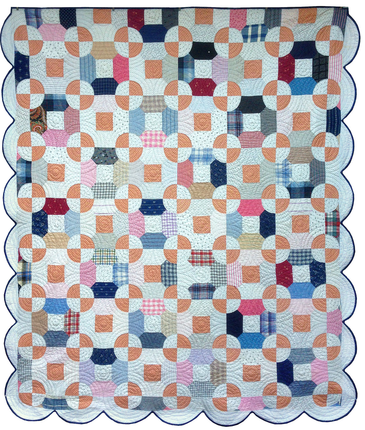 Antique circle quilt q is for quilter for What to do with an old quilt