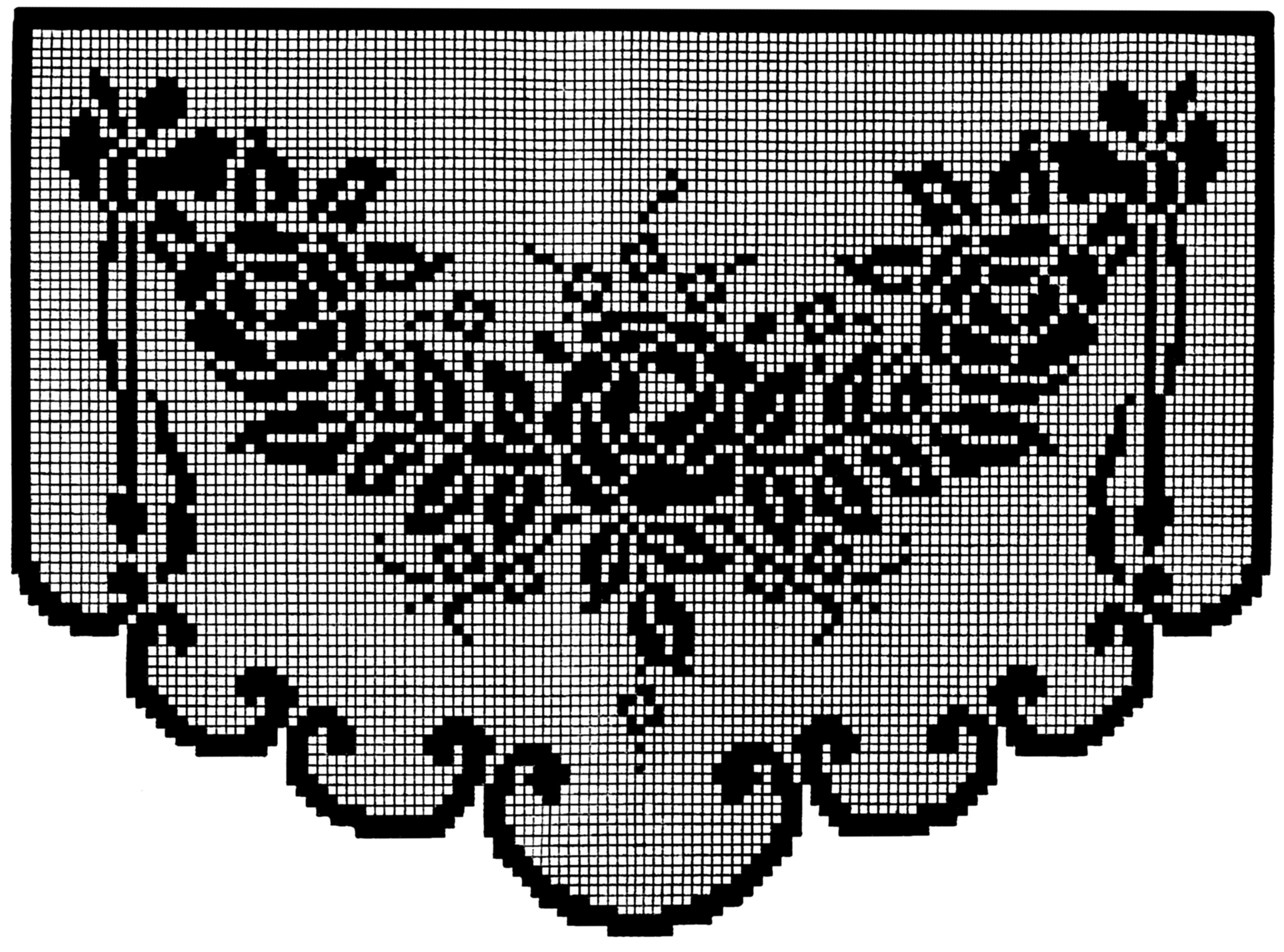 Grid patterns for filet crochet or cross stitch 1923 q is for earlier posts containing mother goose grid patterns are available in earlier posts here and here bankloansurffo Image collections