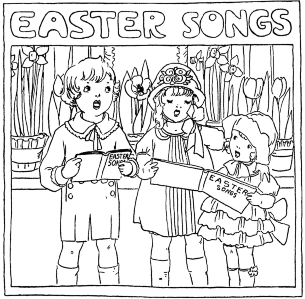 easter coloring pages from 1930s newspapers u2013 q is for quilter