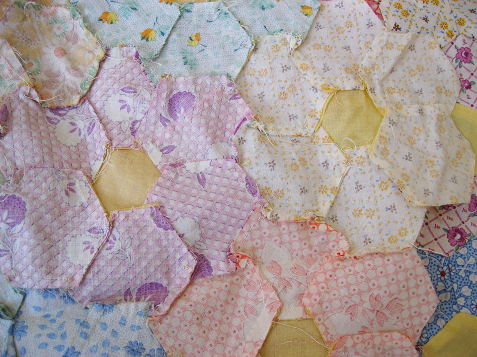 Grandmother-Flower-Garden-Quilt-Top-3