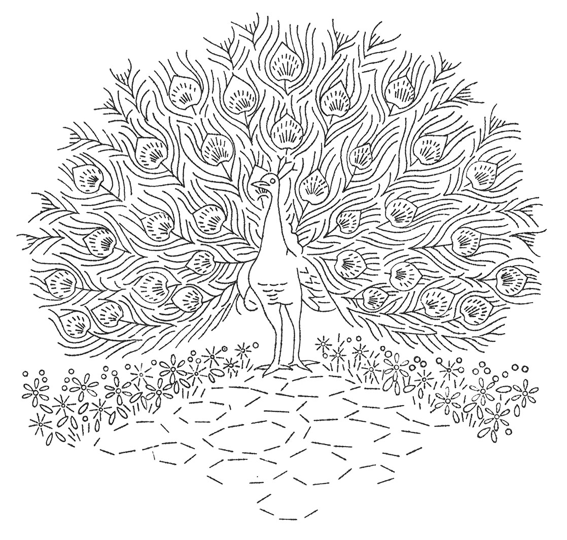Free Hard Peacock Coloring Pages