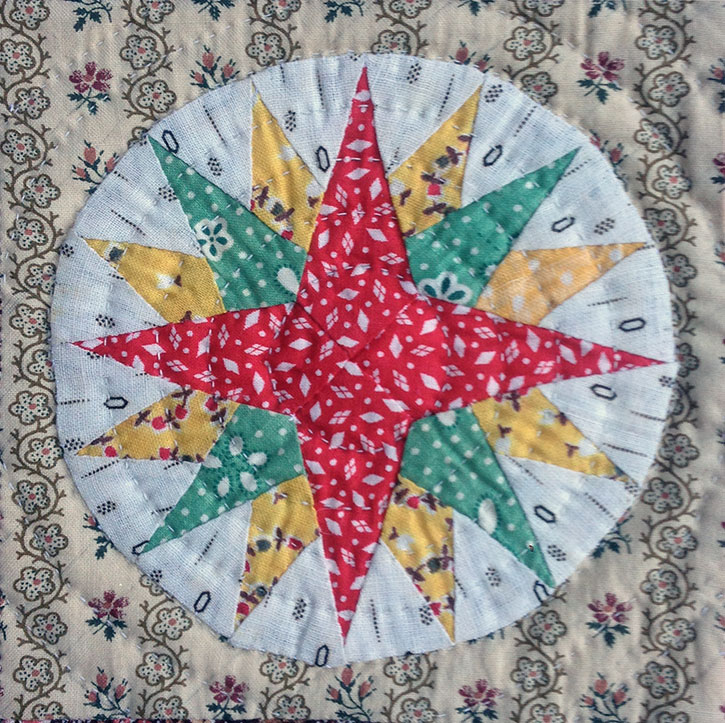 Mariner's-Compass-Doll-Quilt-detail
