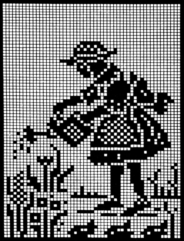 Free Pattern Friday — Mother Goose in Filet Crochet – Q is for Quilter