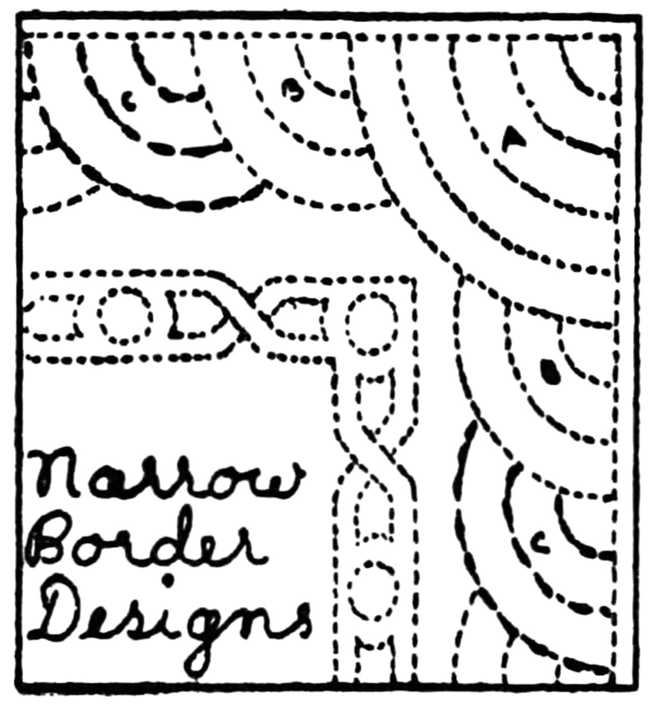 More nancy page hand quilting designs q is for quilter for Quilting templates for borders