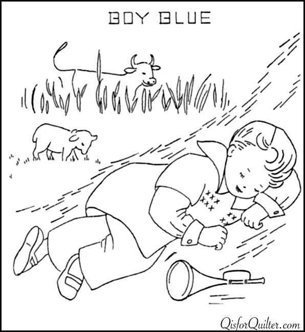Free coloring pages of little boy blue mini book for Little boy blue coloring page
