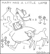 Nursery-Rhyme-Embroidery-Mary-Had-a-Little-Lamb