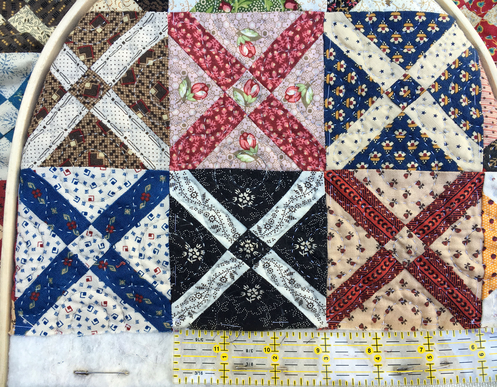 Wip Wednesday Old Italian Block Doll Quilt Q Is For