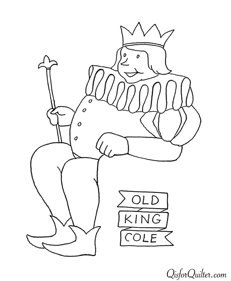 Cherly cole free colouring pages for Old king cole coloring page