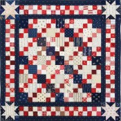 Patriotic-4-patch-doll-quilt-top