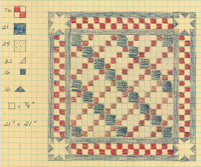Patriotic-4-patch-doll-quilt-top-plan