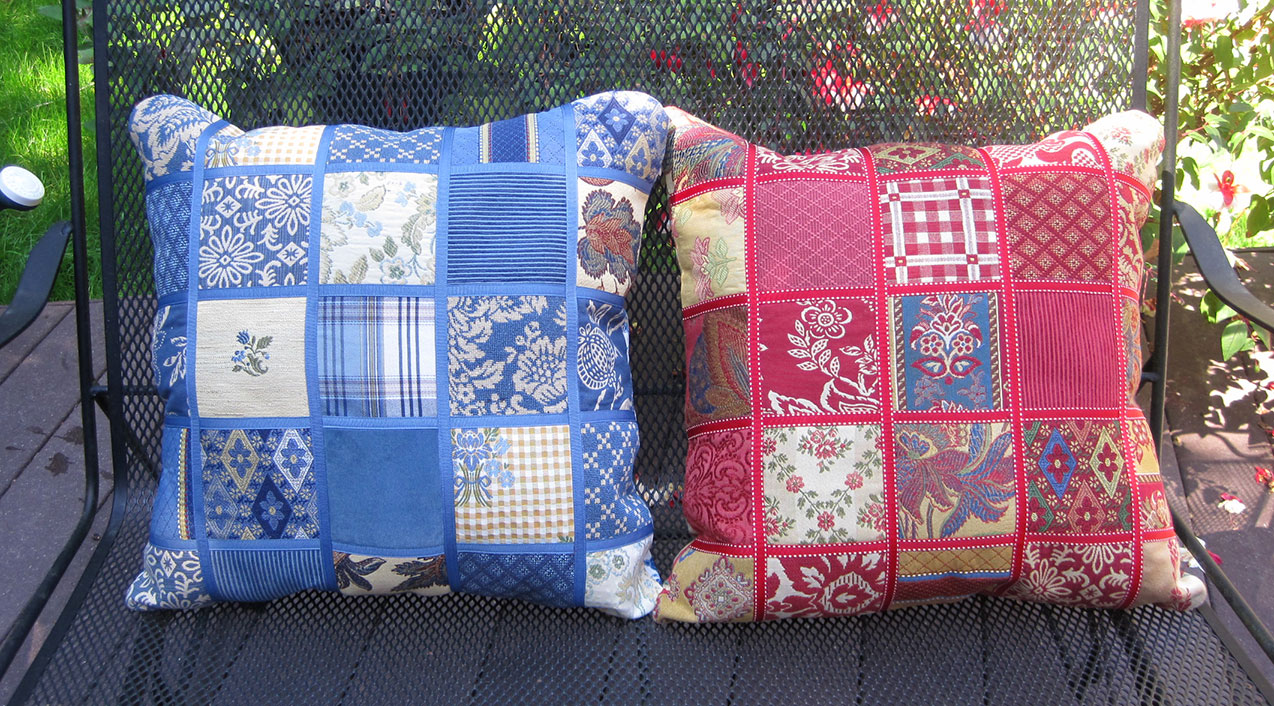 One Rag Rug And Two Patchwork Pillows Thank You Goodwill