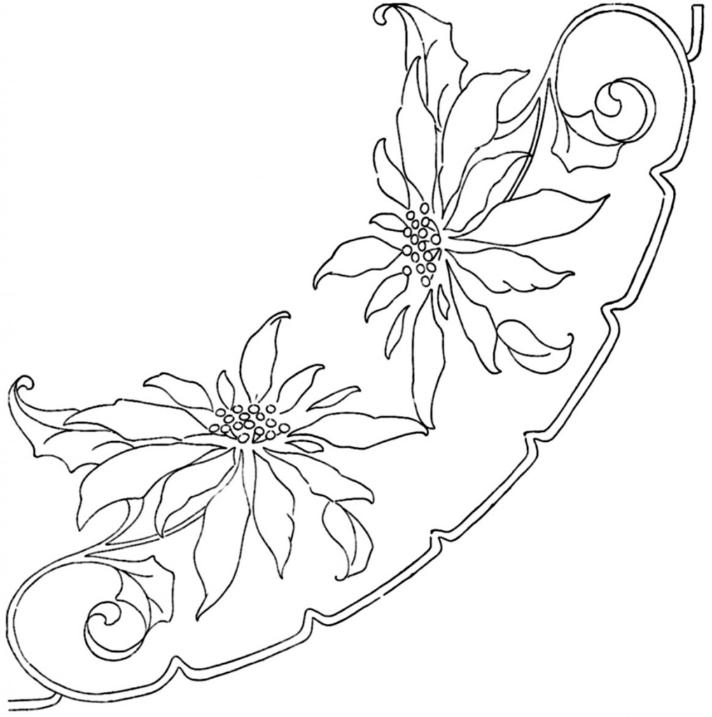 Poinsettia-in-Outline