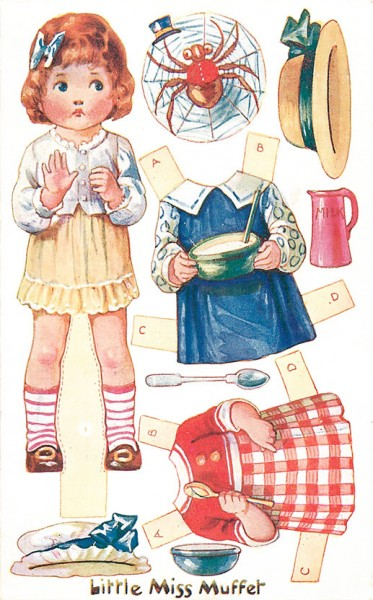 Postcard-Miss-Muffet
