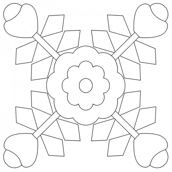 Rose-Cross-Applique-Quilt-Pattern