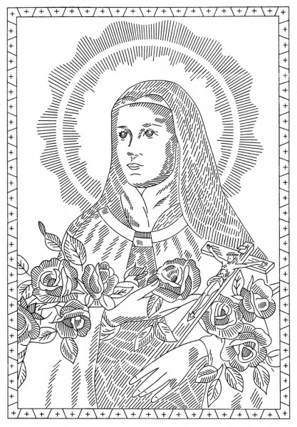 therese of lisieux coloring pages - photo#28