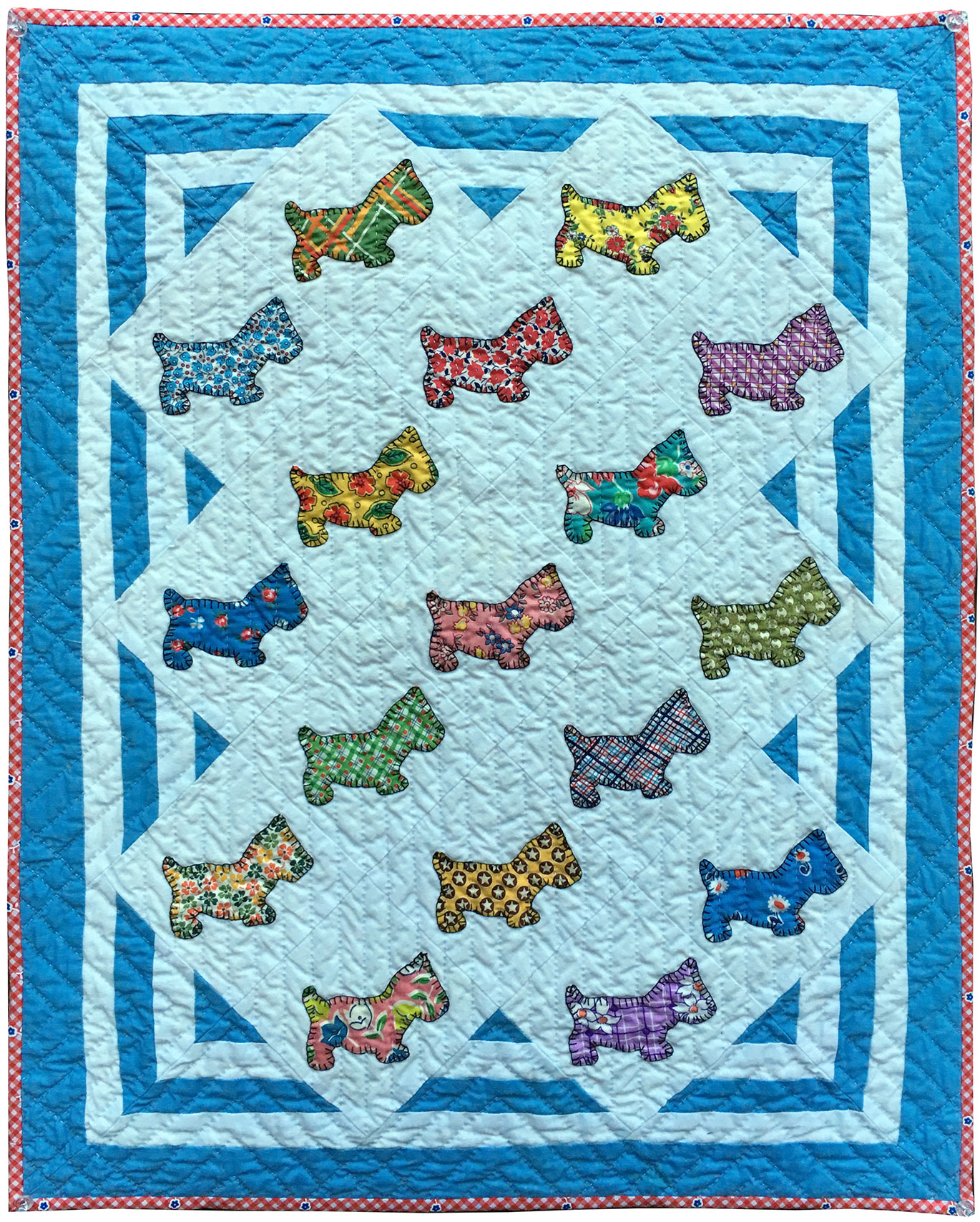 Scottie Dog Doll Quilt Q is for Quilter