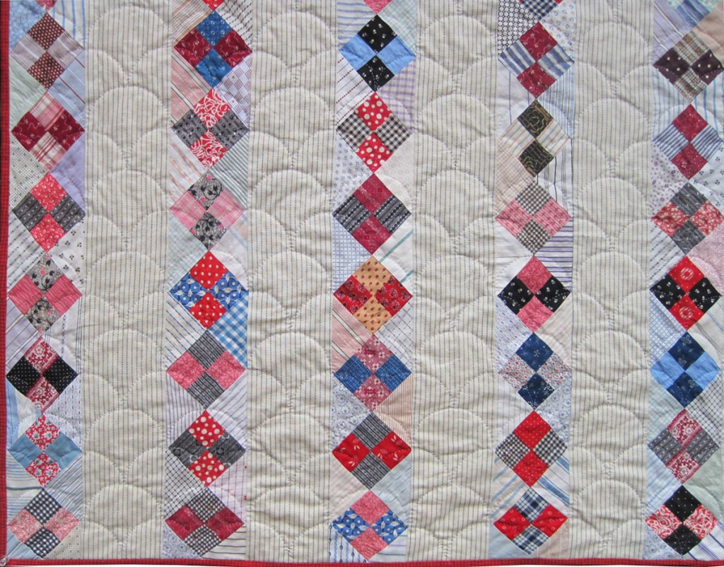 Strippy-Four-Patch-Quilt-detail