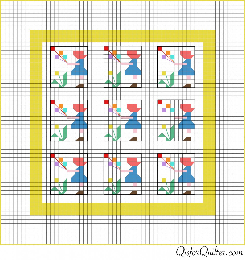 Sunbonnet-Sue-pieced-quilt-diagram