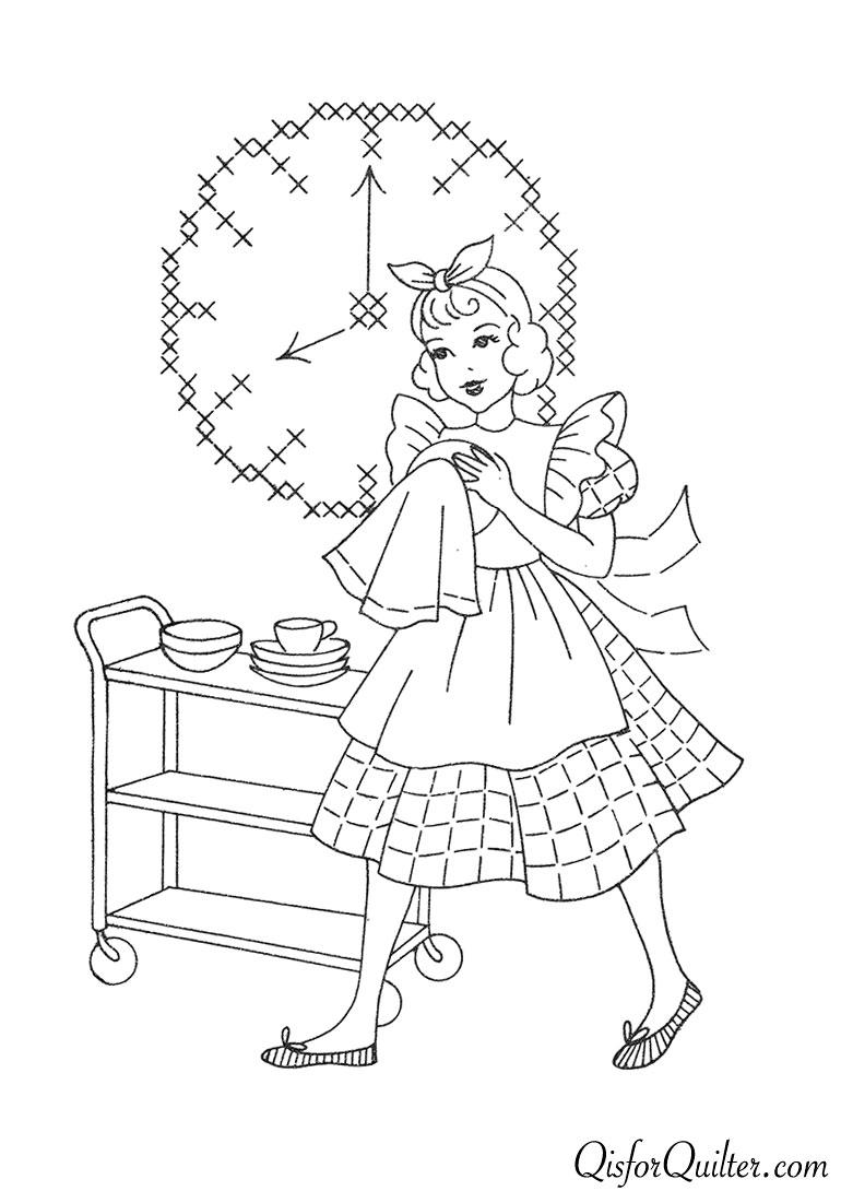 kitchen embroidery designs. Superior 132 Kitchen Motifs 1 Vintage Embroidery Patterns  Q is