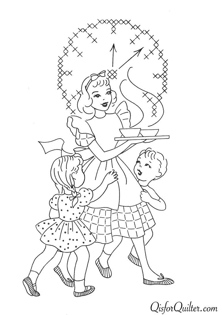 Vintage Embroidery Patterns Superior 132 Kitchen Motifs Q Is For Quilter