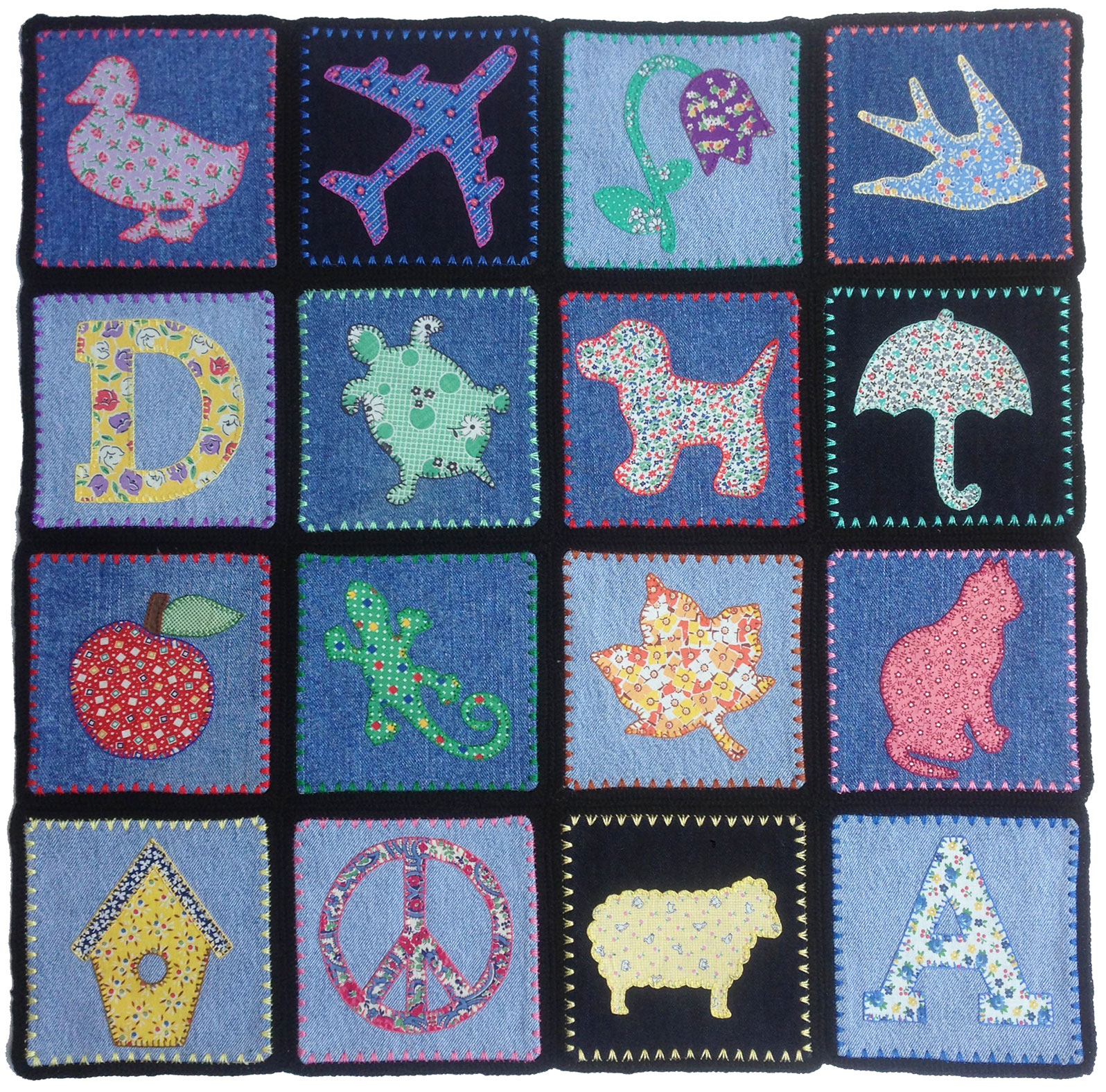 Hand quilting designs from vintage embroidery transfers for Appliques design