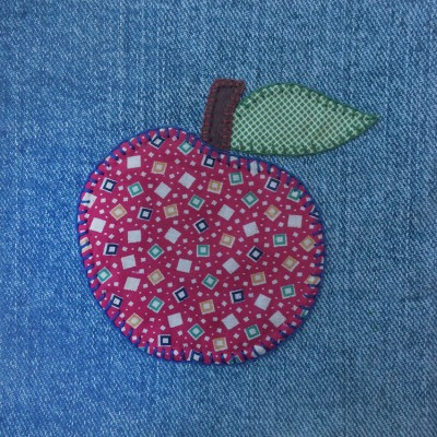 denim quilt apple