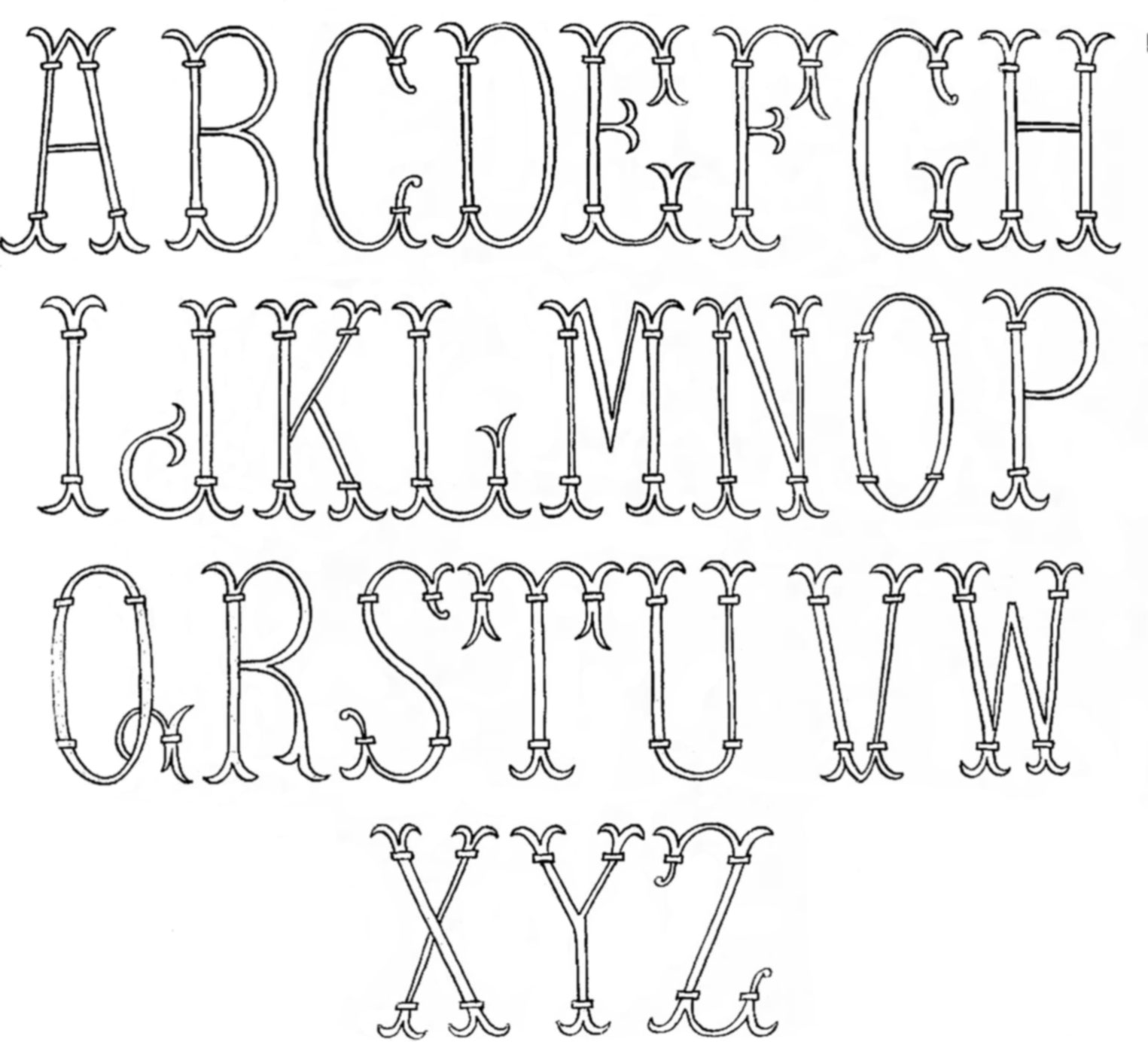 Vintage Embroidery Transfers Initials Q Is For Quilter