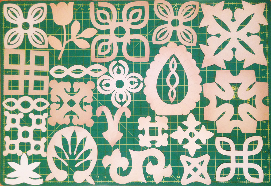 Vintage Quilting Stencils and Stencil Giveaway Winners Q is for Quilter